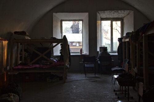 L'un des dortoirs qui sert à accueillir les soldats de passage.