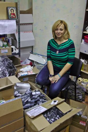 Julia Goncharova, responsable de l'unité médicale de Narodnyï tyl